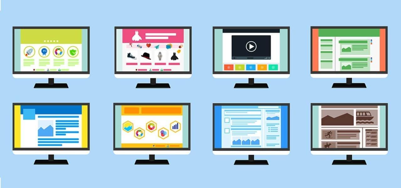 webbdesign trender 2018 - bild