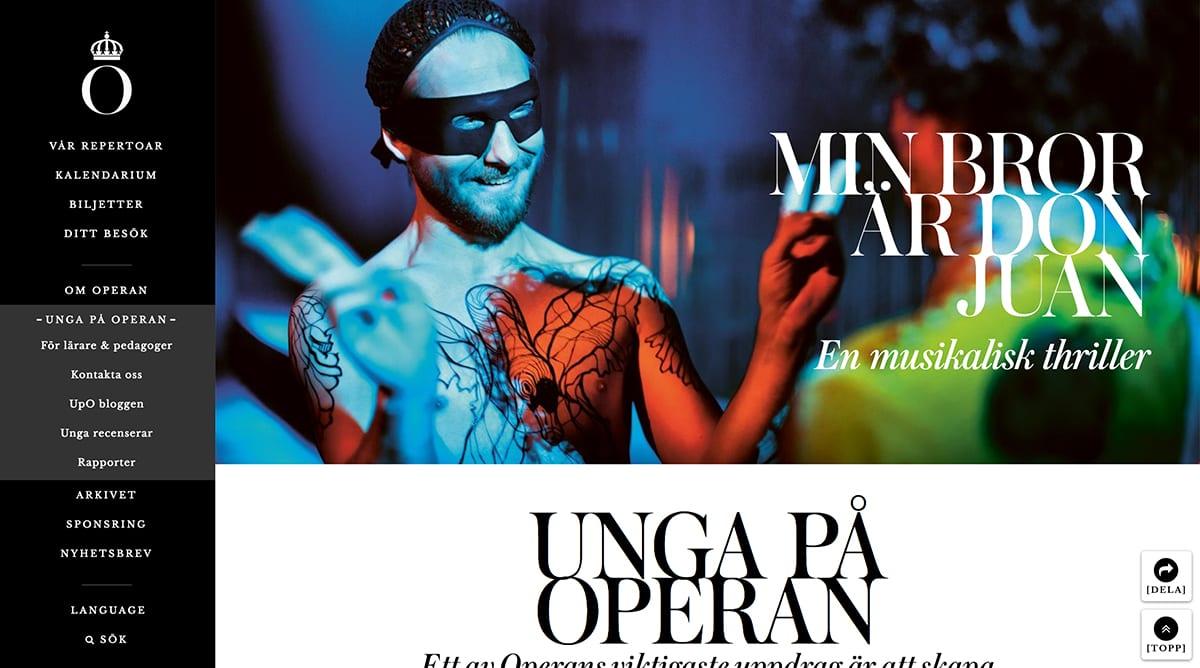 webbdesign trender 2018 kungliga operan - bild