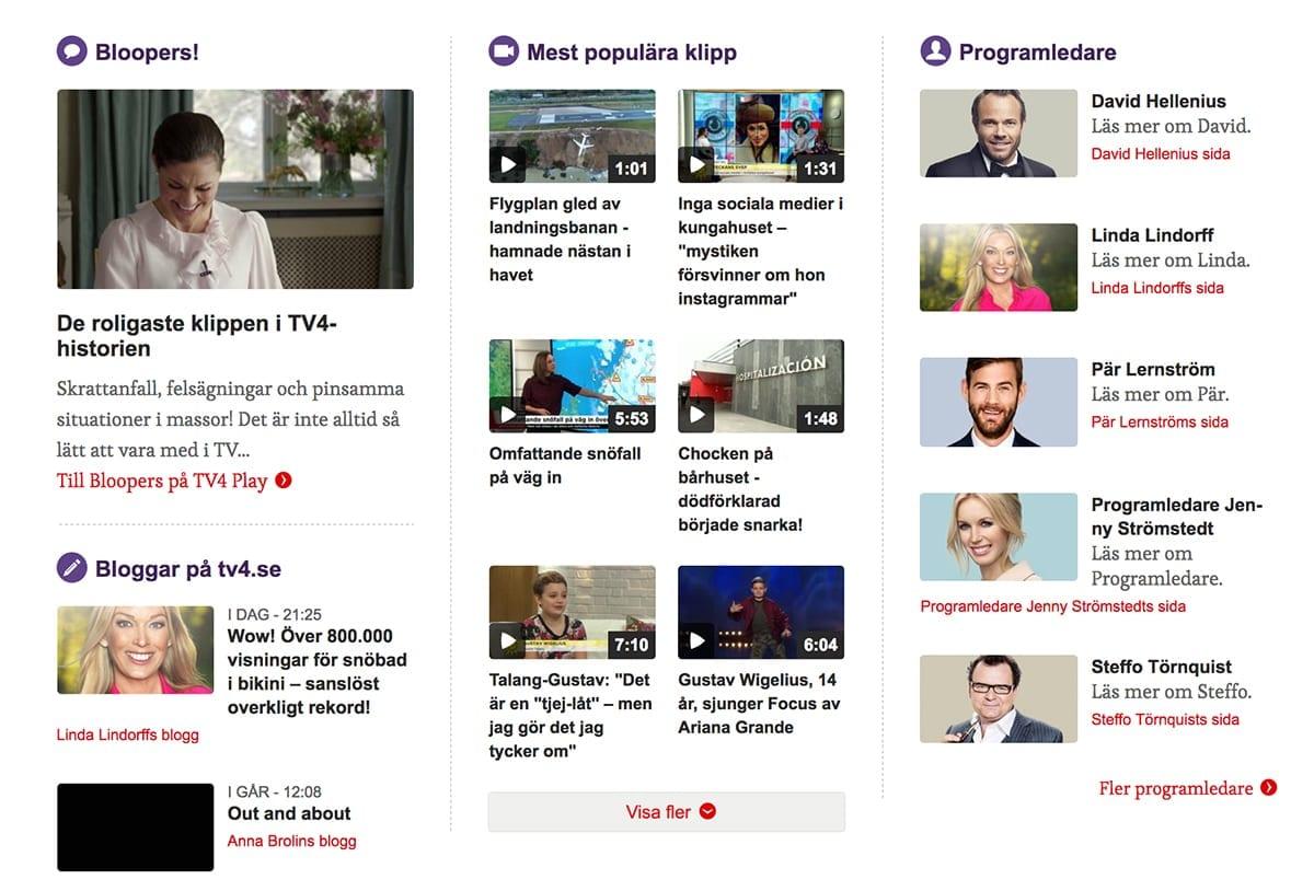 webbdesign trender tv4 - bild